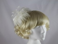  Ivory Feathers Fascinator